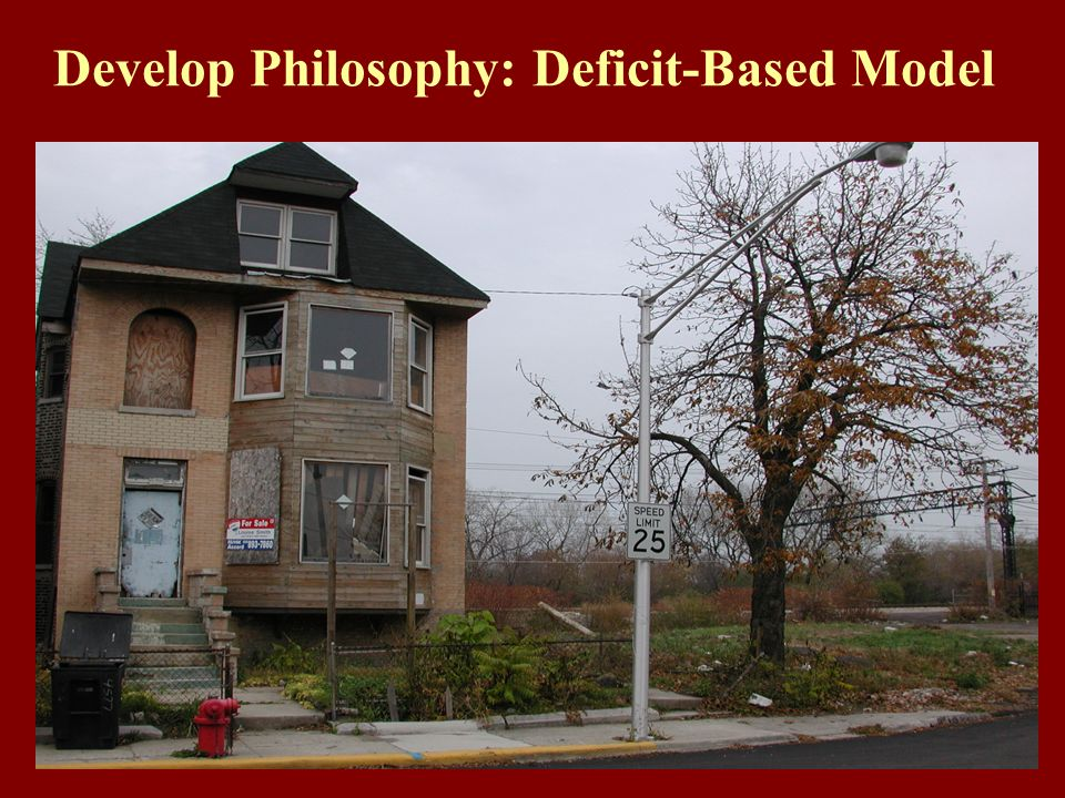 Develop Philosophy: Deficit-Based Model