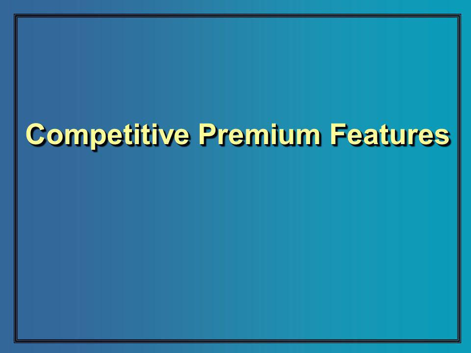 Competitive Premium Features