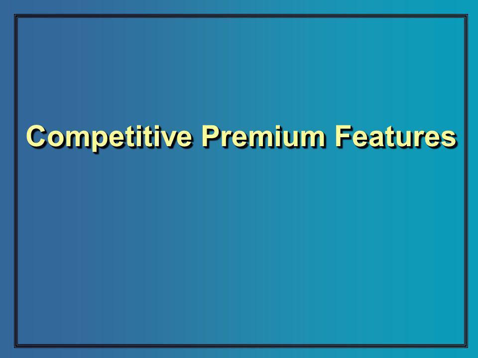 Competitive Premium Features
