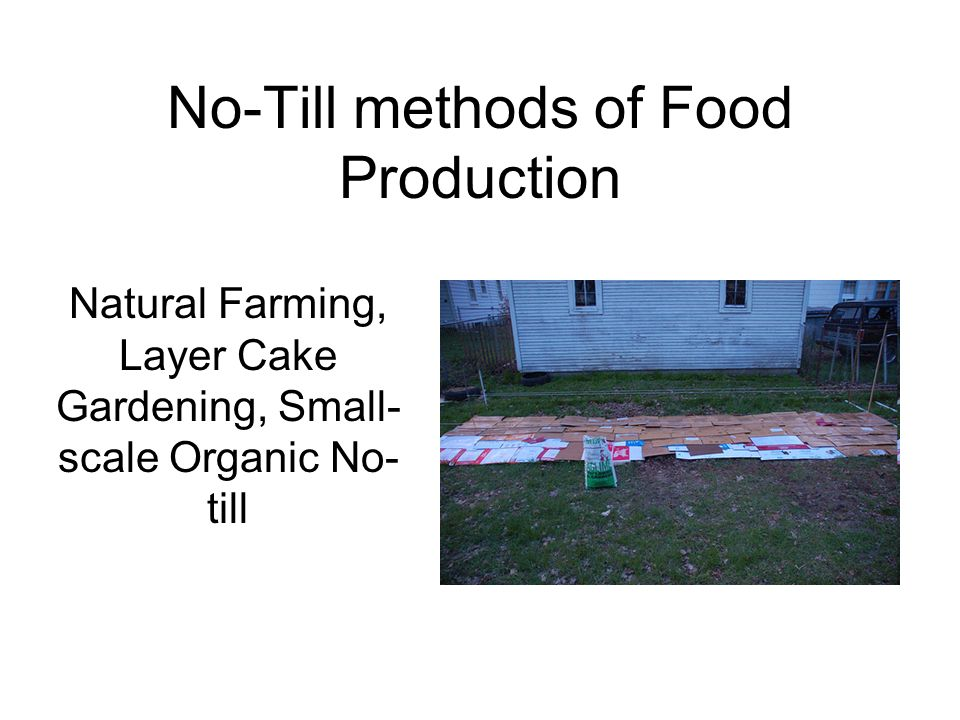 No-Till methods of Food Production Natural Farming, Layer Cake Gardening, Small- scale Organic No- till