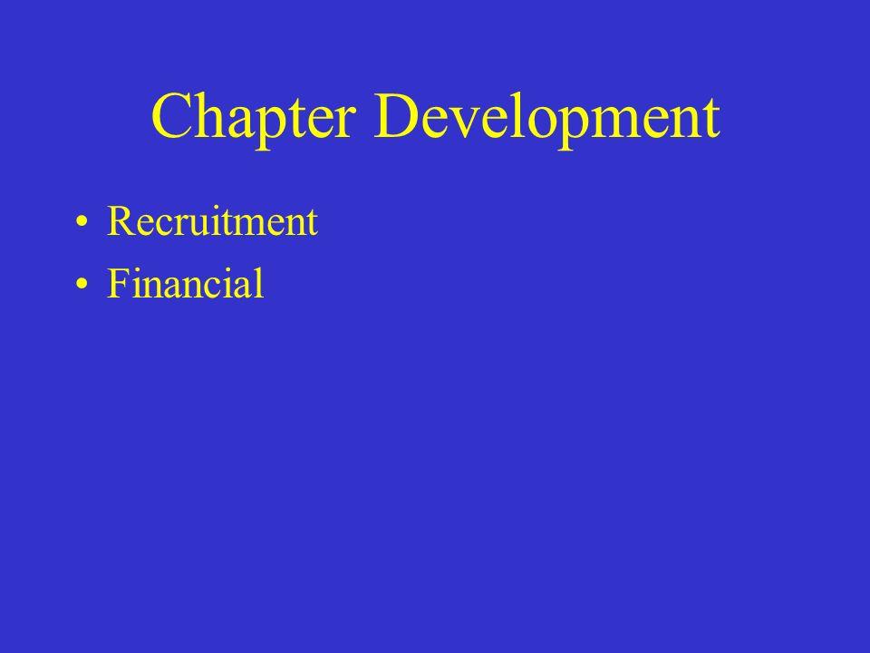 Chapter Development Recruitment Financial