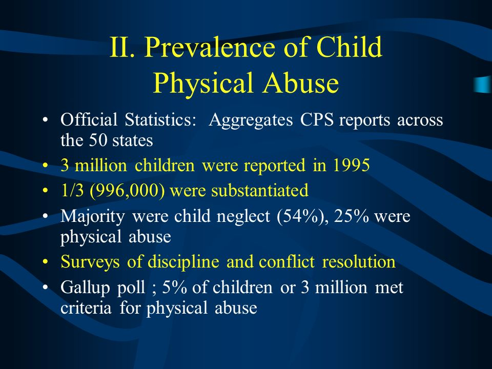 I. Definition of Child Maltreatment Child abuse and neglect or child maltreatment is the physical or mental injury, sexual abuse, negligent treatment,