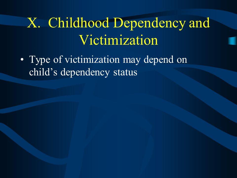 IX. Developmental Victimology Risk Factors Child Abuse Homicides Handgun homicides