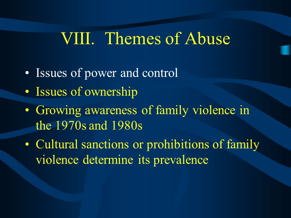VII. Courtship Violence and Date Rape