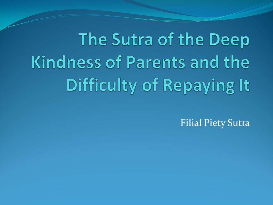 Filial Piety Sutra