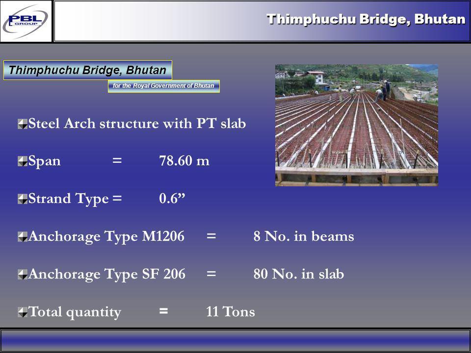 for the Royal Government of Bhutan Thimphuchu Bridge, Bhutan Client Royal Government of Bhutan Funded by Royal Government of Bhutan Tech.