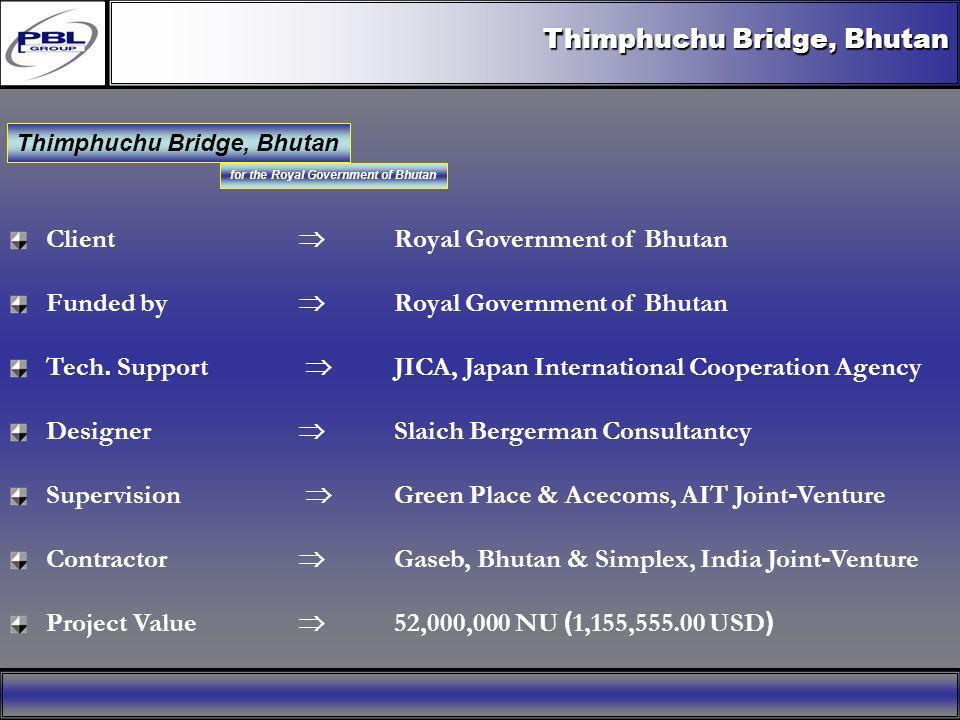 Tendon Layout Thimphuchu Bridge, Bhutan