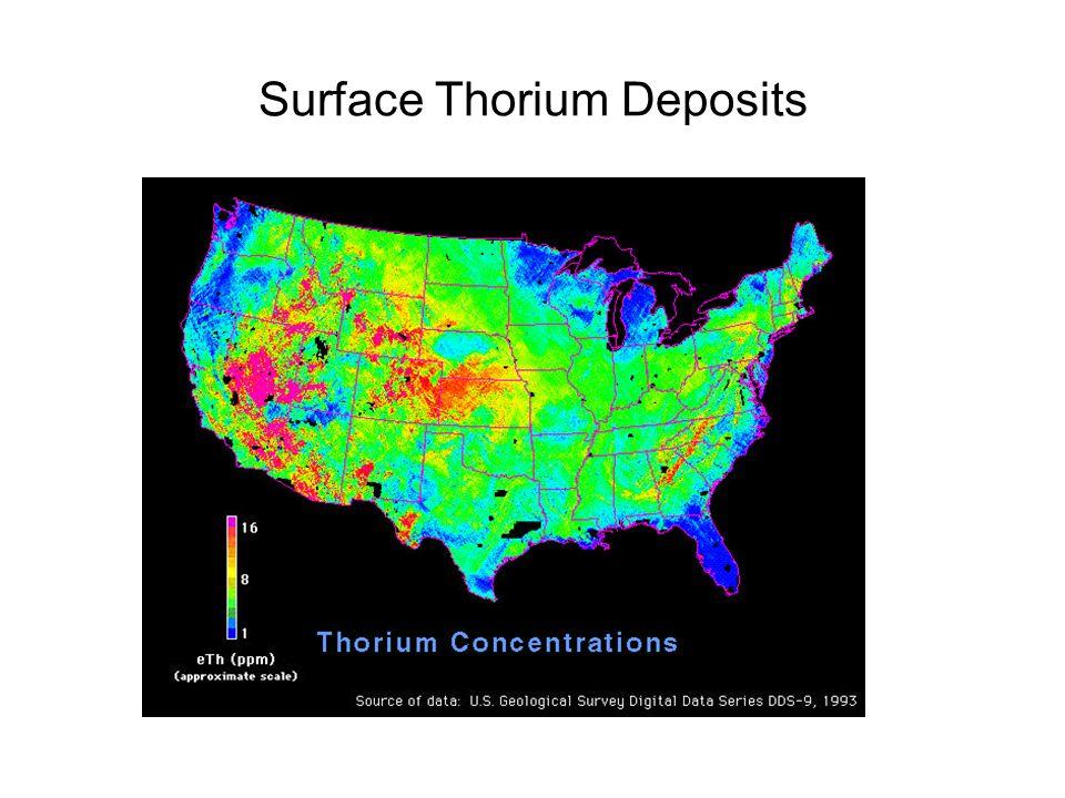 Surface Thorium Deposits