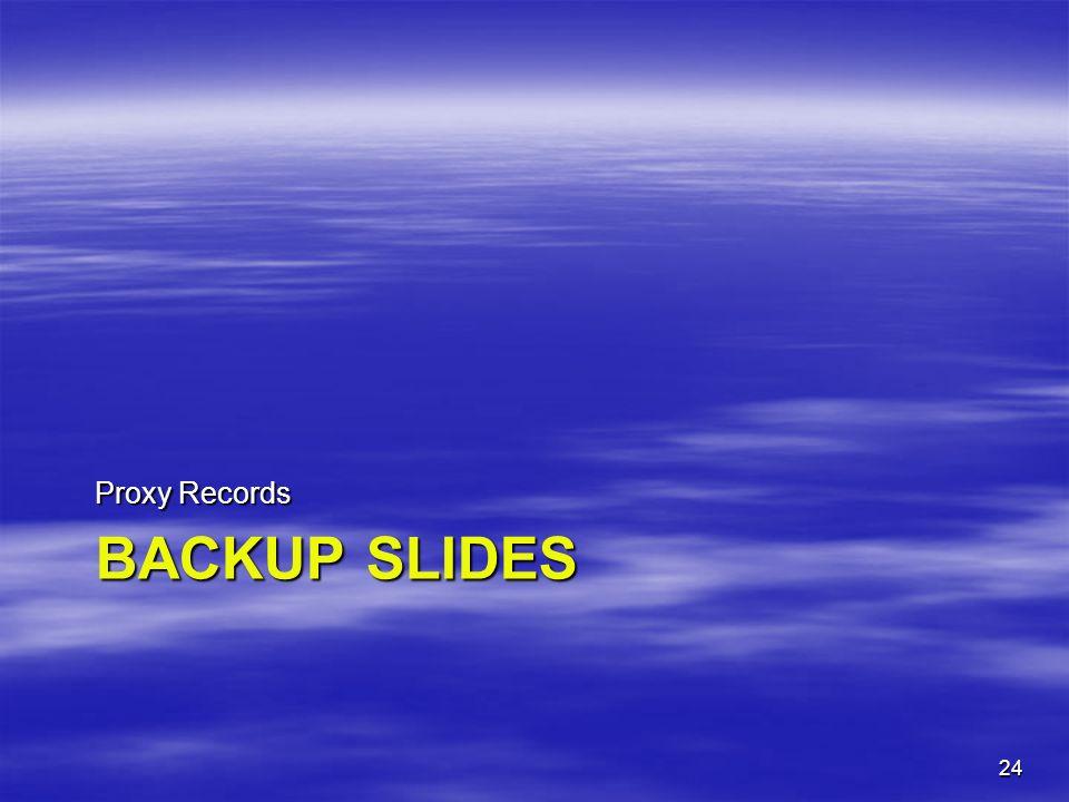BACKUP SLIDES Proxy Records 24