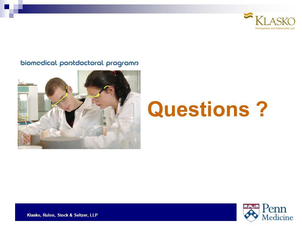 Klasko, Rulon, Stock & Seltzer, LLP Questions