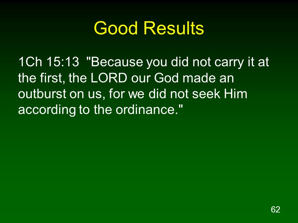 62 Good Results 1Ch 15:13