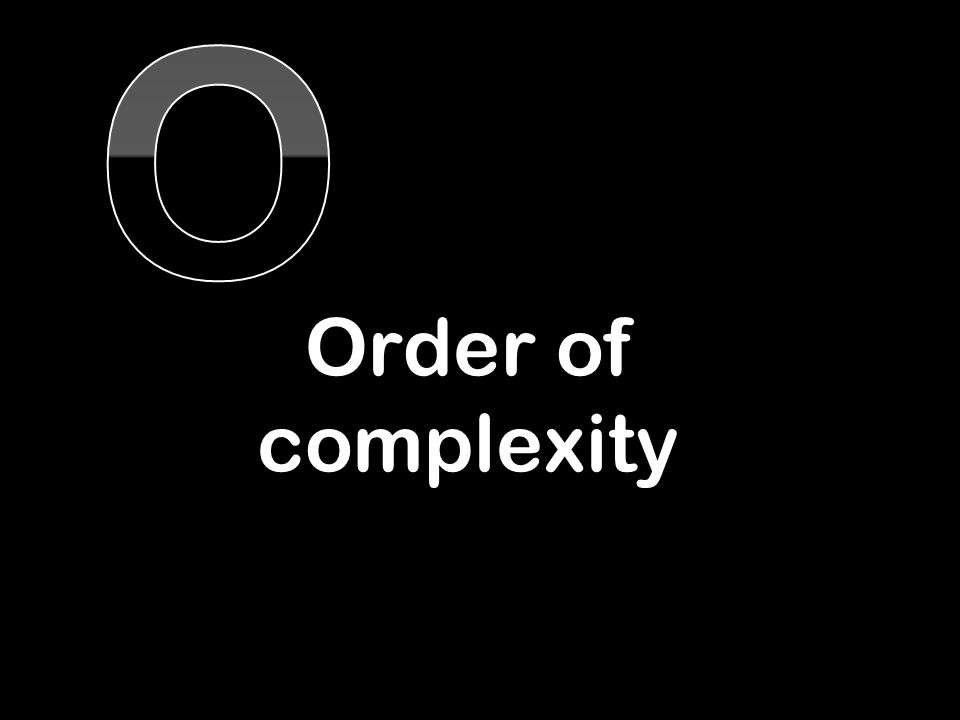 Order of complexity