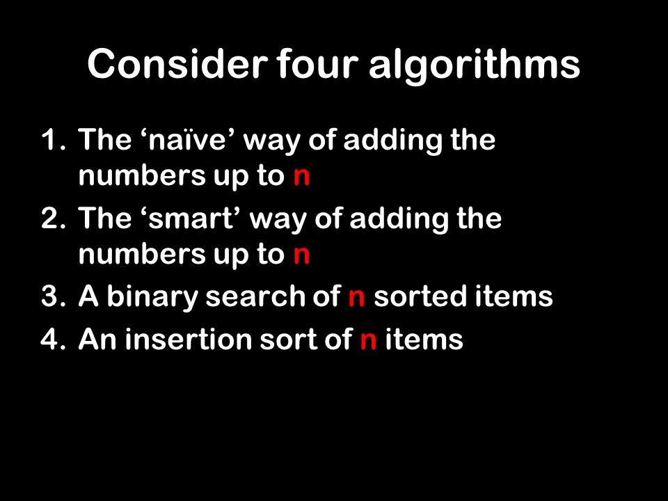 Naïve summing of integers