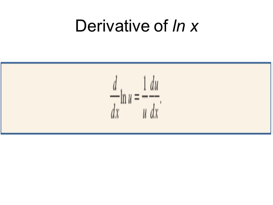 Derivative Of Ln 3