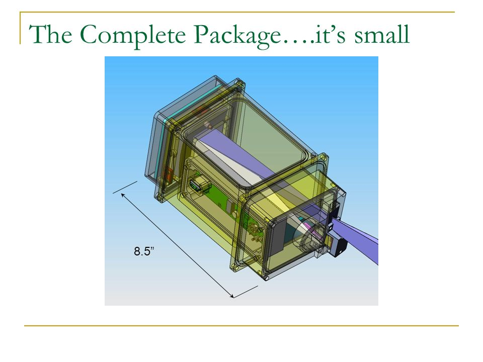 The Complete Package….its small 8.5