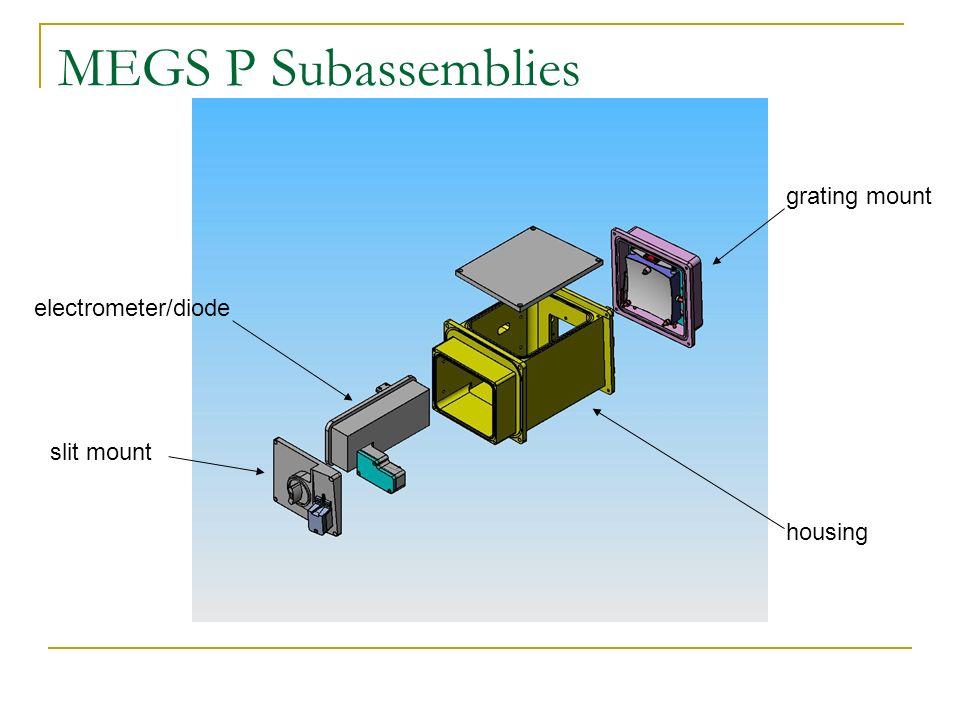 MEGS P Subassemblies slit mount electrometer/diode grating mount housing