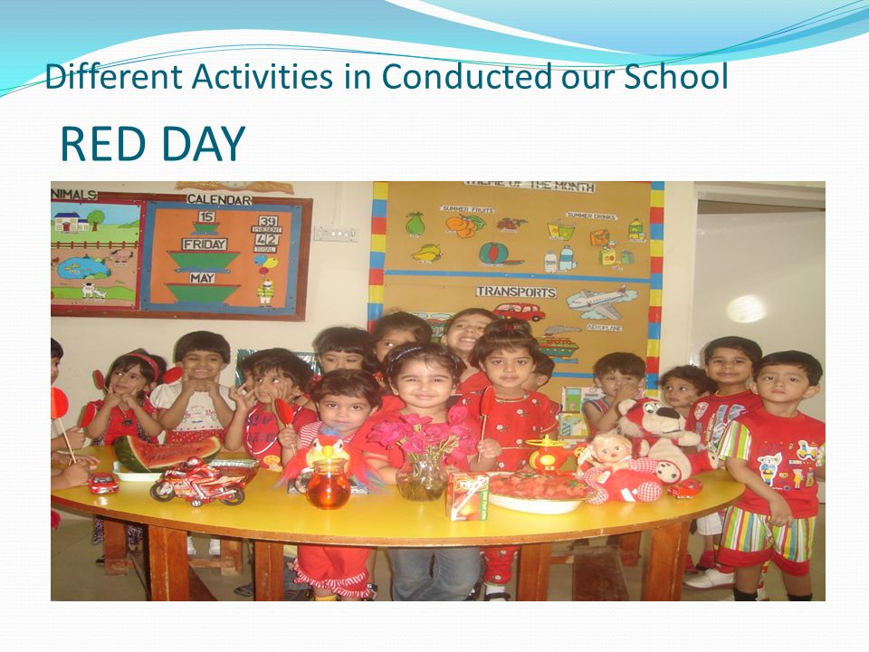 Different Activities in Conducted our School RED DAY