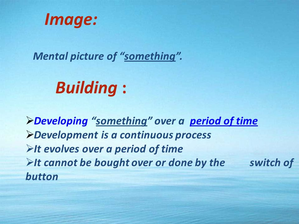 Image: Mental picture of something.