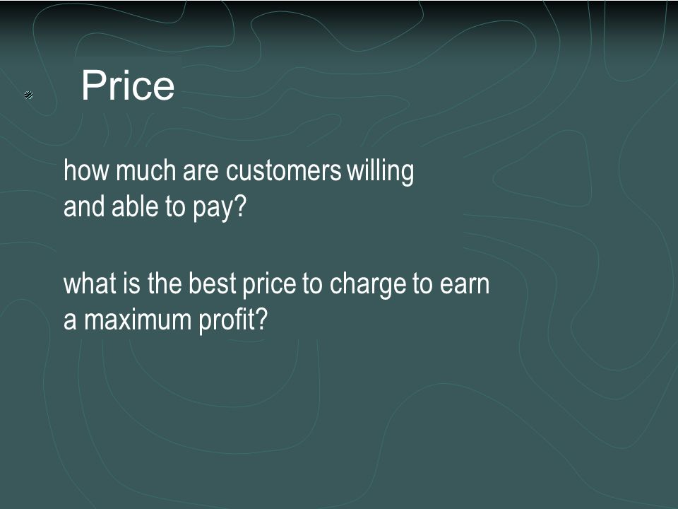 Place how will the product or service get to the customer? what channels of distribution are needed? when should the product or service be in stock or