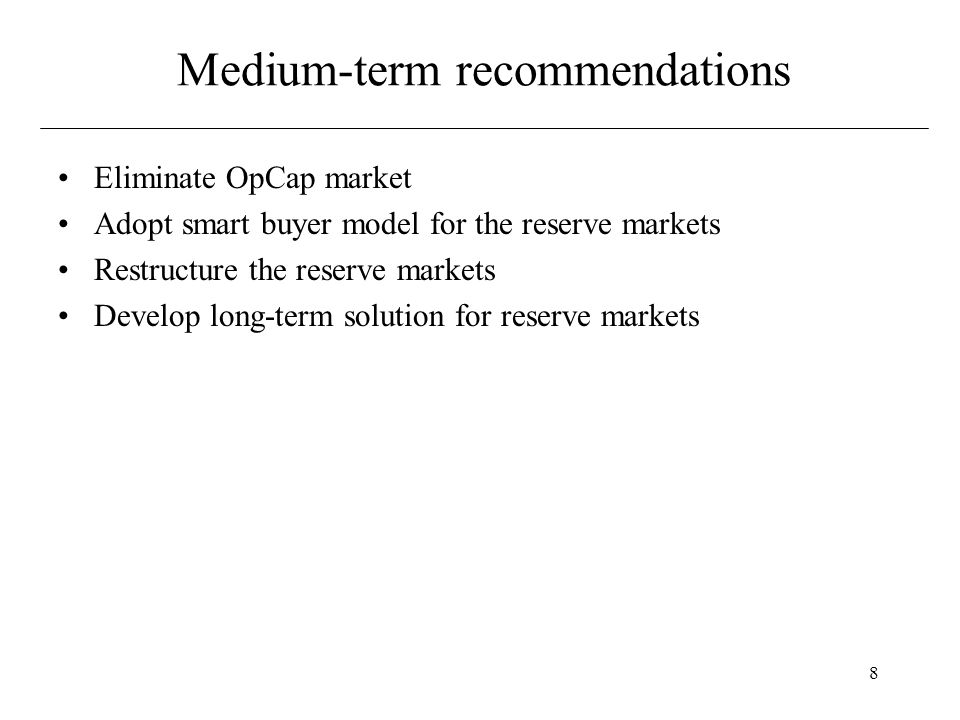 9 Salient Features of the NEPOOL Markets Market Product Residual or full requirements Bid Submission Settlement (all markets are settled after the fact) Cost Burden Losers provide the service.