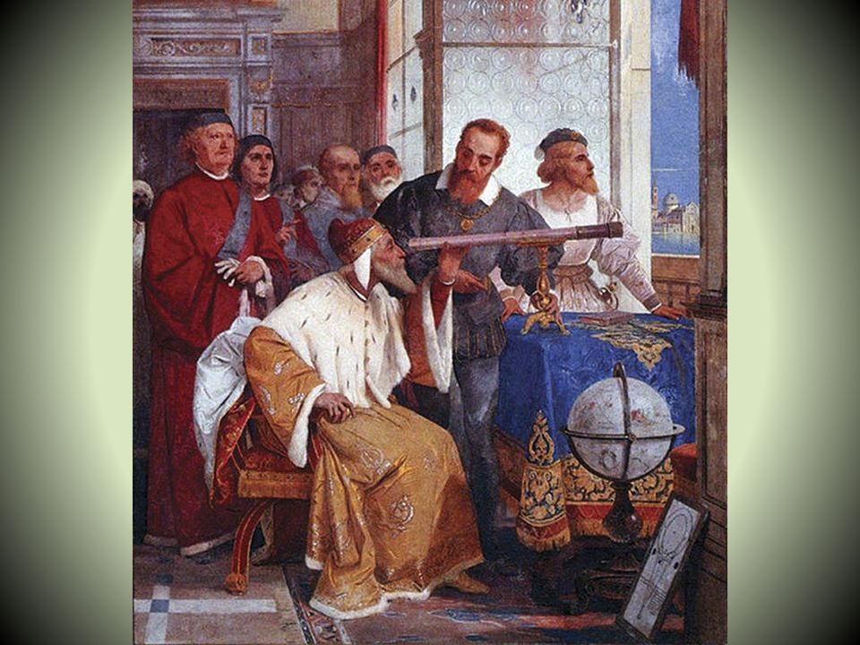 The Telescope In 1609, Galileo hears about the invention of the telescope that allows you to see far away. He makes a duplicate a month later of a thr