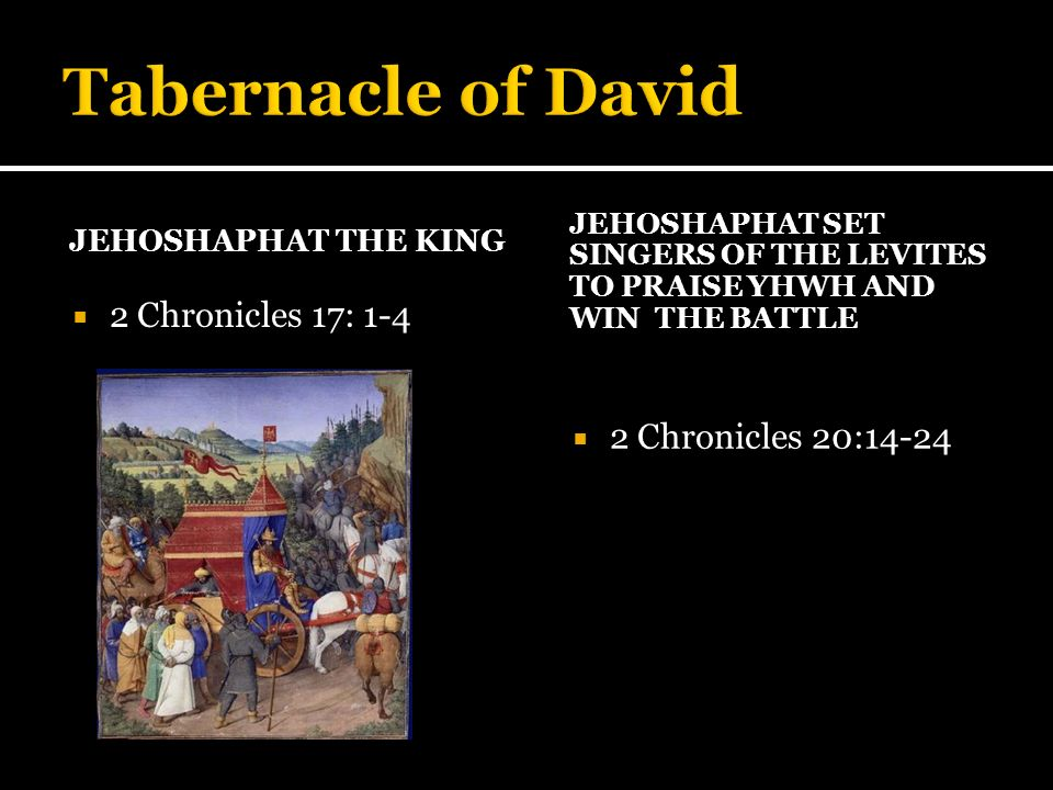 KING HEZEKIAH RESTORED THE ORDER OF THE TEMPLE OF YHWH 2 Chronicles 29 to 31 Hezekiah restored the order of the temple of YHHW according to the commandment of David, Gad and Nathan, with the singers and instruments 2 Chronicles 29; 31:2