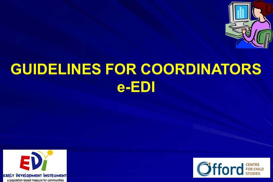 1 GUIDELINES FOR COORDINATORS e-EDI