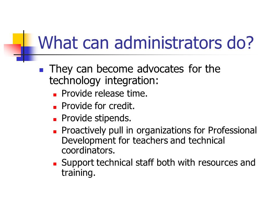 What can administrators do.