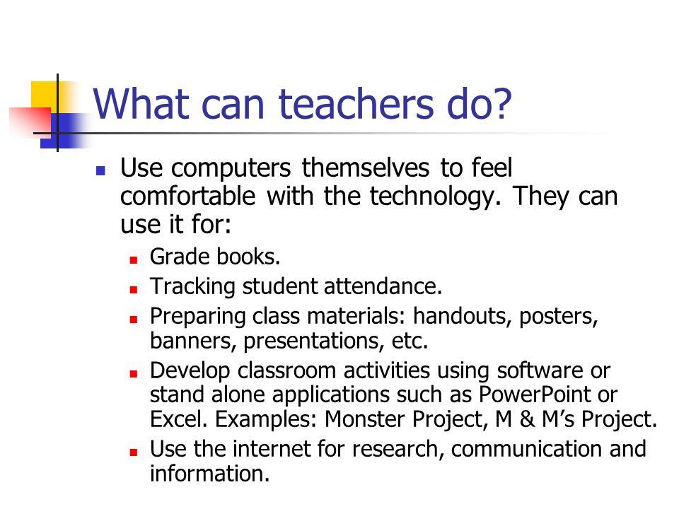 What can teachers do.