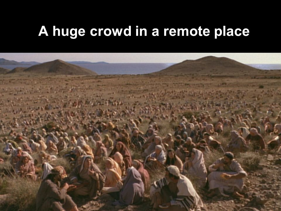 A huge crowd in a remote place
