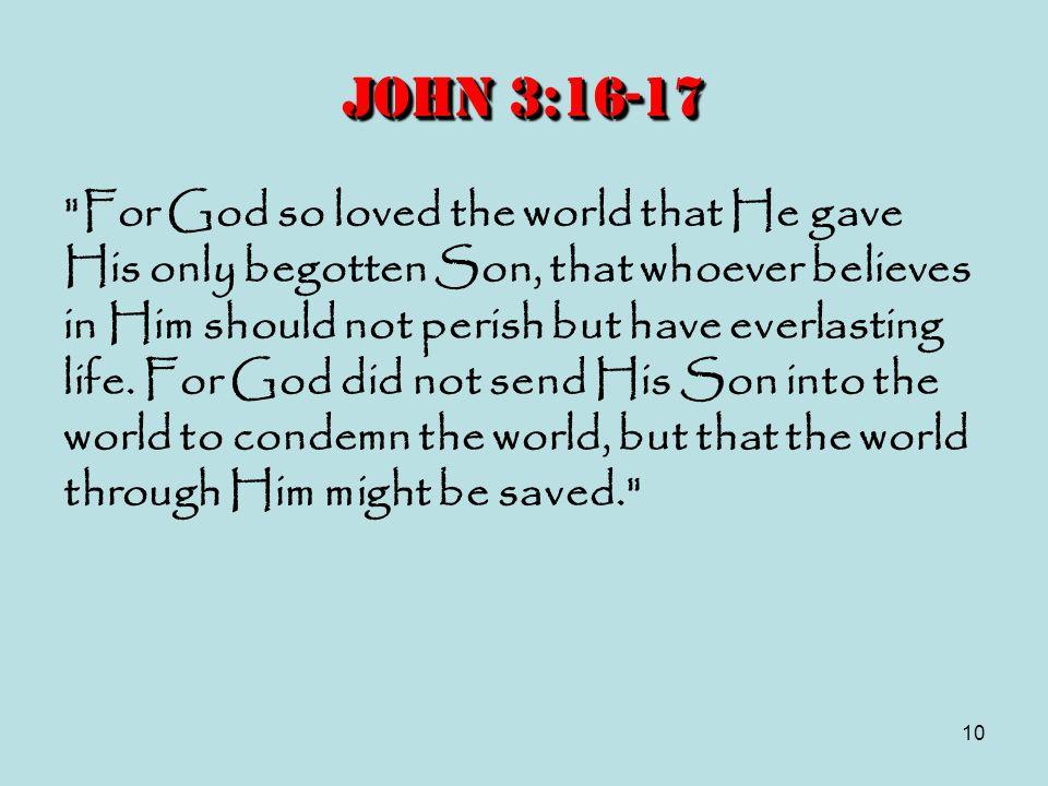 10 John 3:16-17