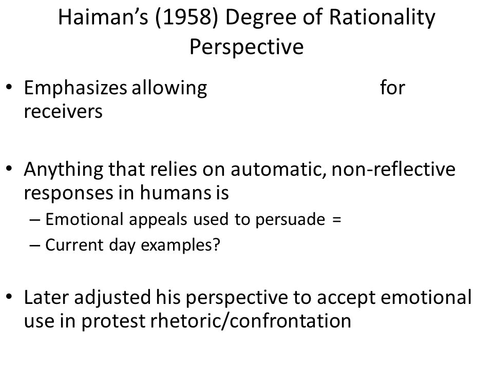 Consider….Do all emotional appeals short-circuit human logical reasoning processes.