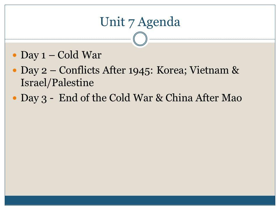 MODERN WORLD HISTORY Unit 7