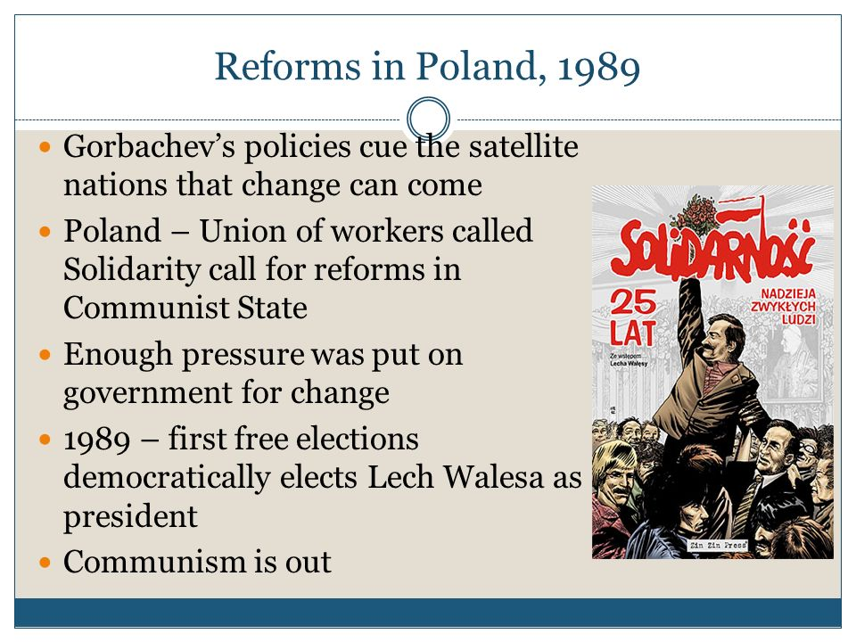 The Collapse of the Soviet Union Mikhail Gorbachev comes to power in 1982 He will fundamentally change the USSR with his policies of Perestroika and G