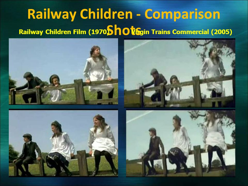 Railway Children - Comparison Shots Virgin Trains Commercial (2005)Railway Children Film (1970)