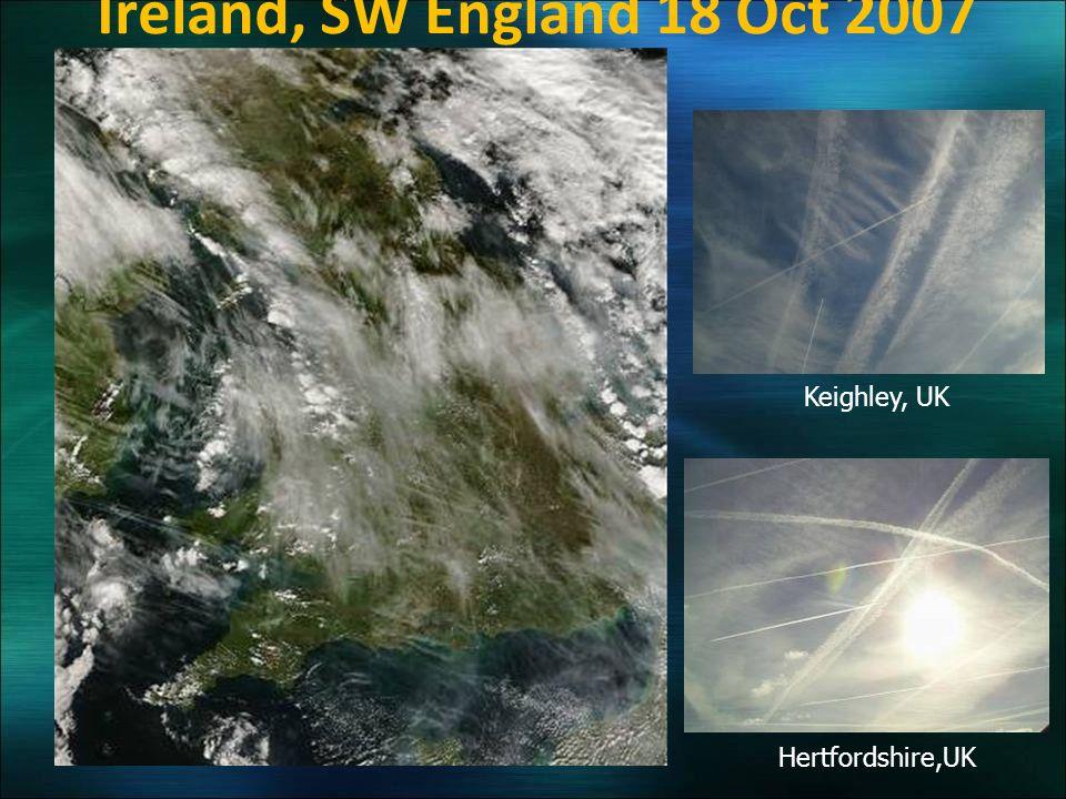 Hertfordshire,UK Keighley, UK Ireland, SW England 18 Oct 2007