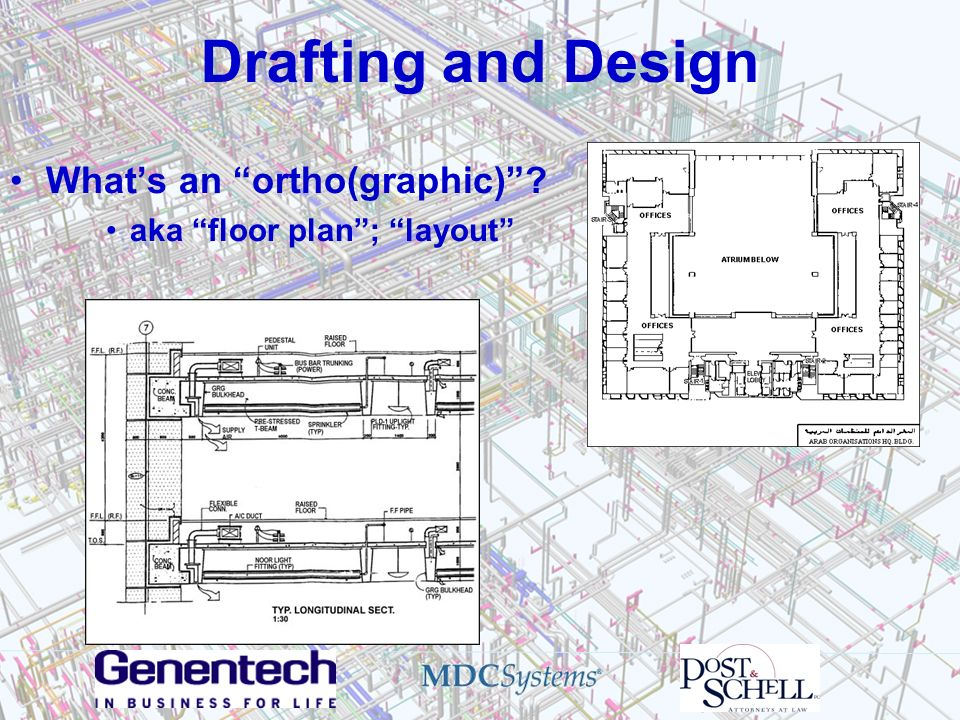Drafting and Design Whats an ortho(graphic)? aka floor plan; layout