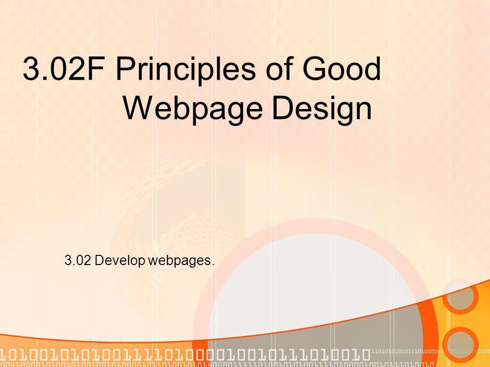 Webpage Design vs.