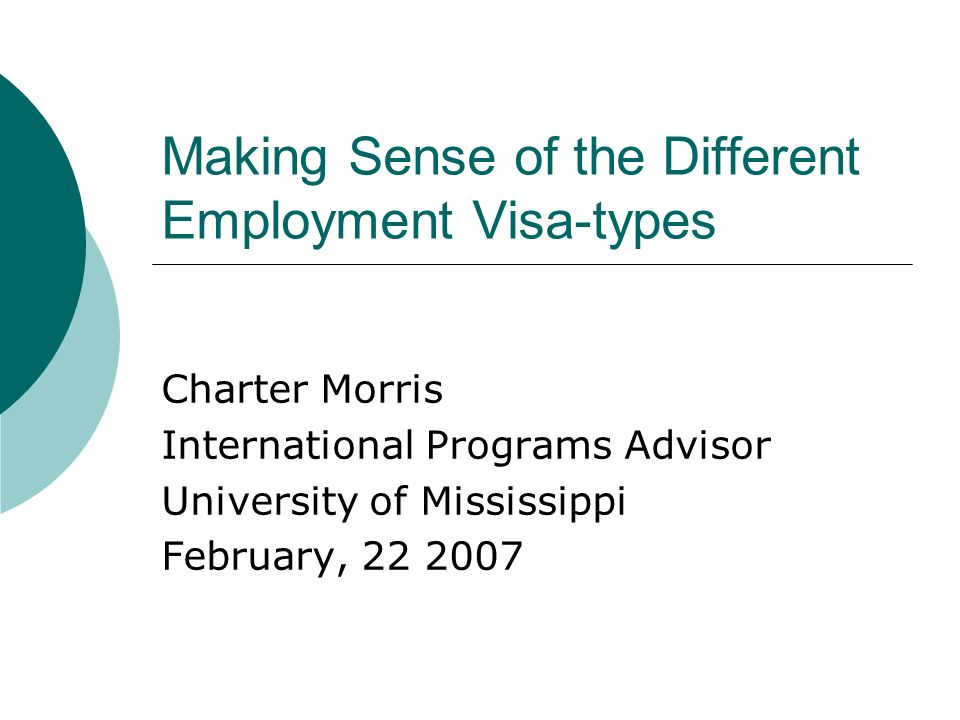 Two Main Categories of Visas Institution Sponsored Self-Petitioned