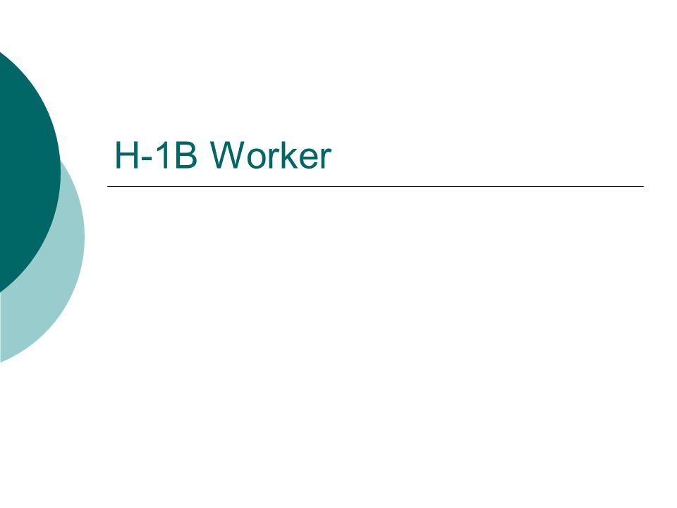 H-1B Overview Can hold a permanent position and be a candidate for tenure Perfect for any permanent position or tenure-track position Limited to 6-years of maximum stay Job must require at least a bachelors degree