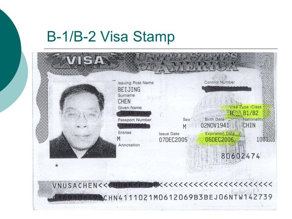 B-1 I-94 Card