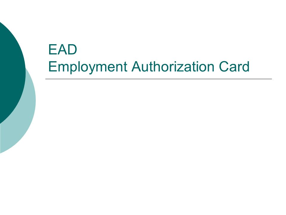 Employment Authorization Document EAD Cards can be issued for many different reasons.