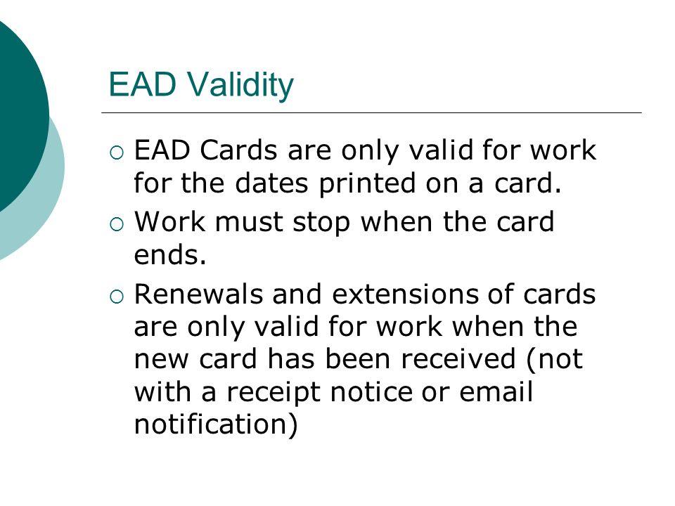 EAD Card