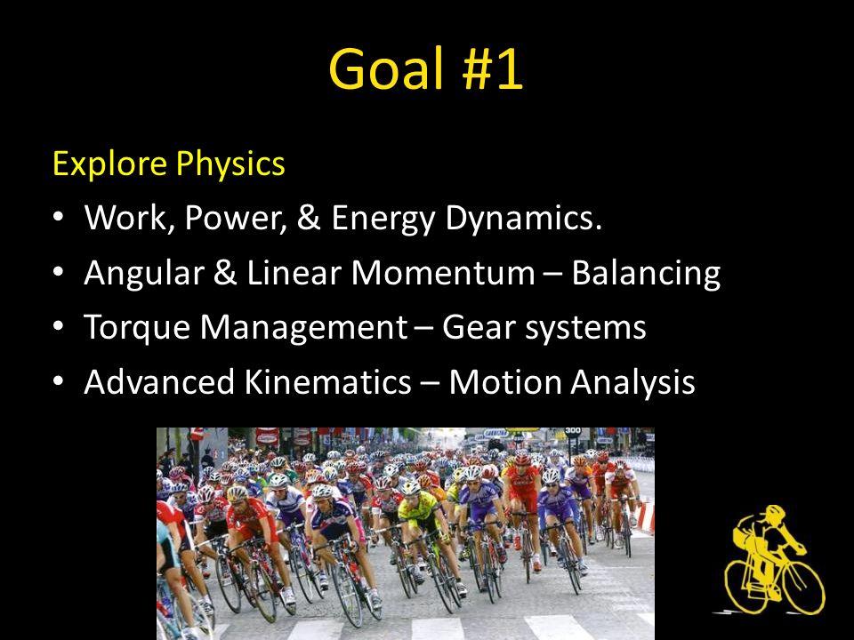Goal #1 Explore Physics Work, Power, & Energy Dynamics.