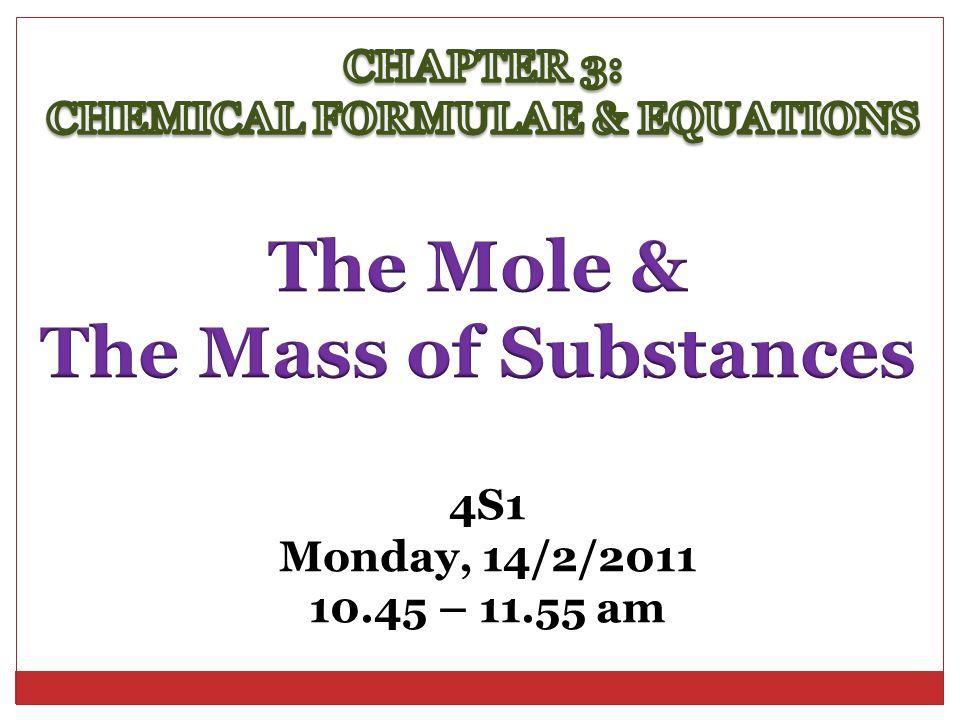 4S1 Monday, 14/2/2011 10.45 – 11.55 am