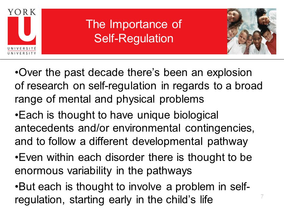 The Importance of Self-Regulation Over the past decade theres been an explosion of research on self-regulation in regards to a broad range of mental a
