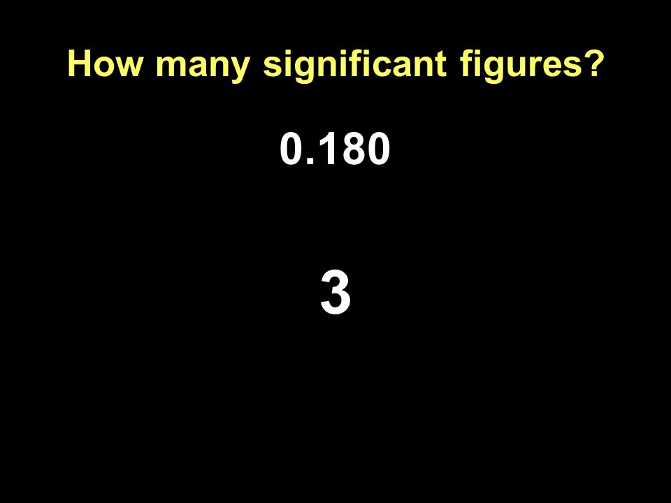 How many significant figures? 0.180 3