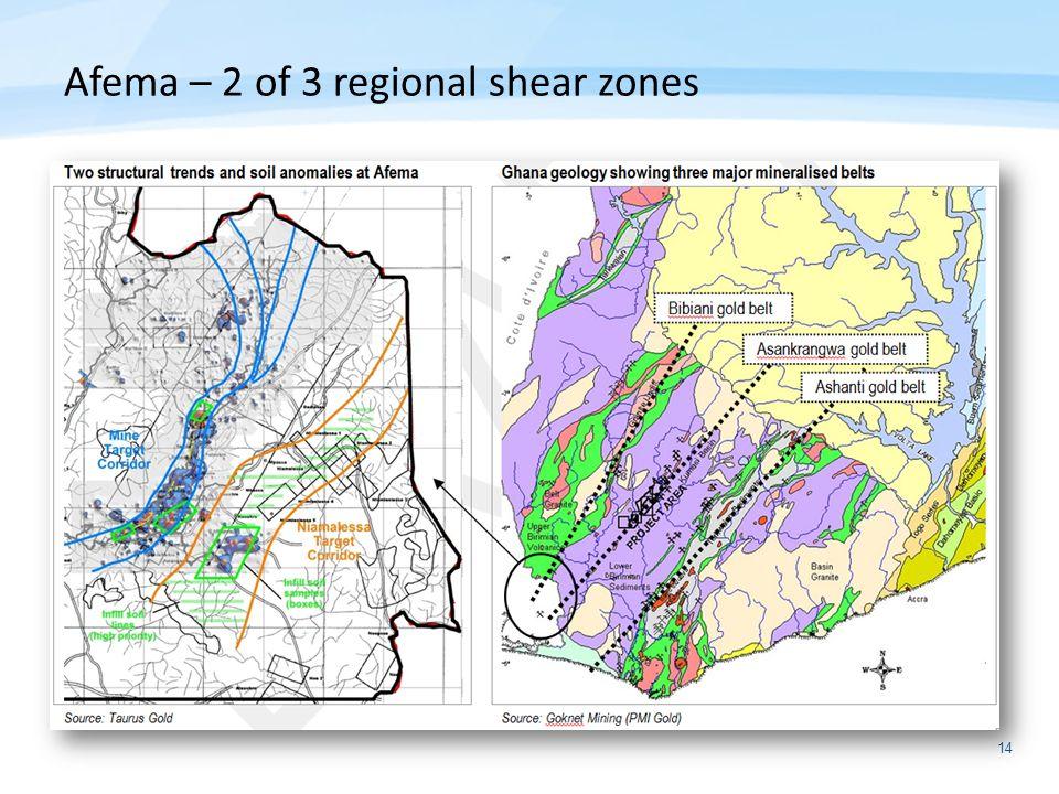 14 Afema – 2 of 3 regional shear zones