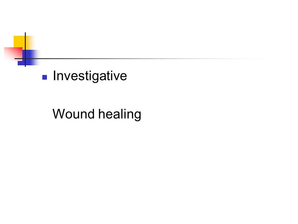 Investigative Wound healing