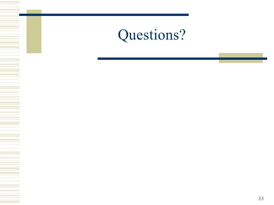 33 Questions?